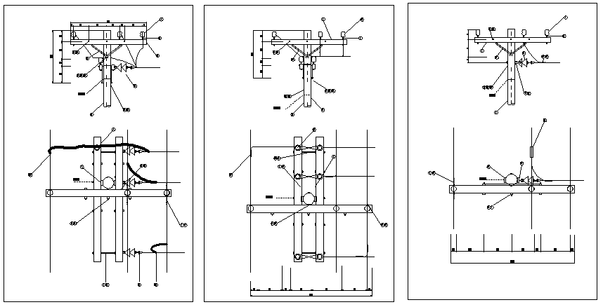Structure Details of Distribution Network dwg file