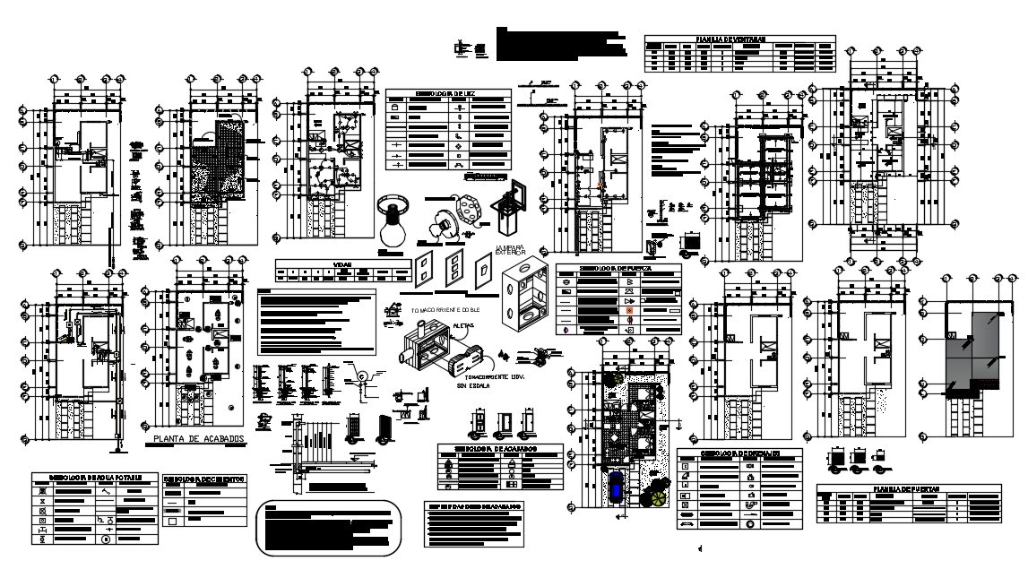 Structure and section detail Family House dwg file