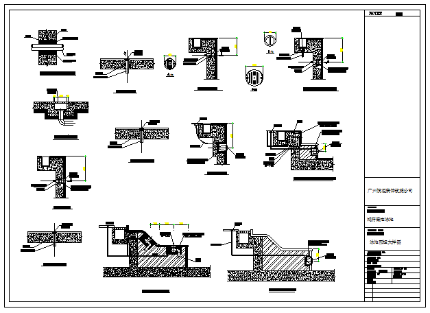Structure detail drawing of Swimming pool embedded large design