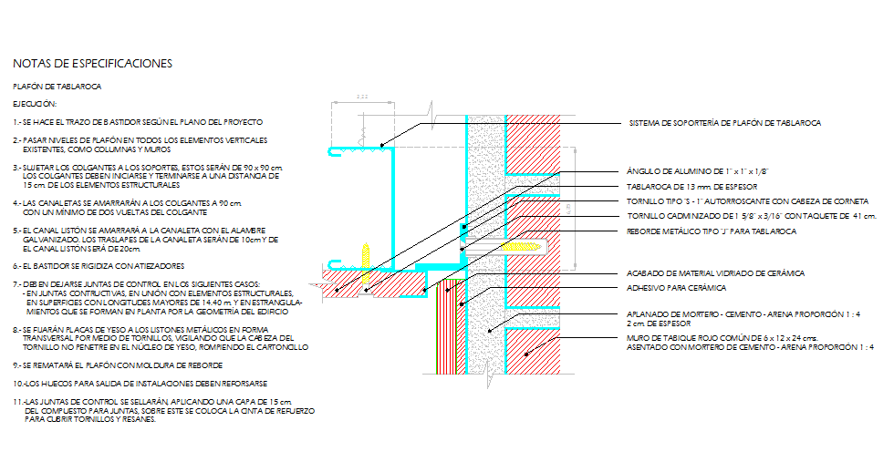 Suspended ceiling installation detail