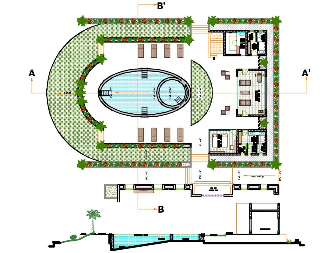 Swimming Pool Plan AutoCAD File