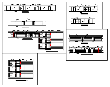 TYPICAL ELEVATOR LOBBY & CORRIDOR ELEVATION design drawing