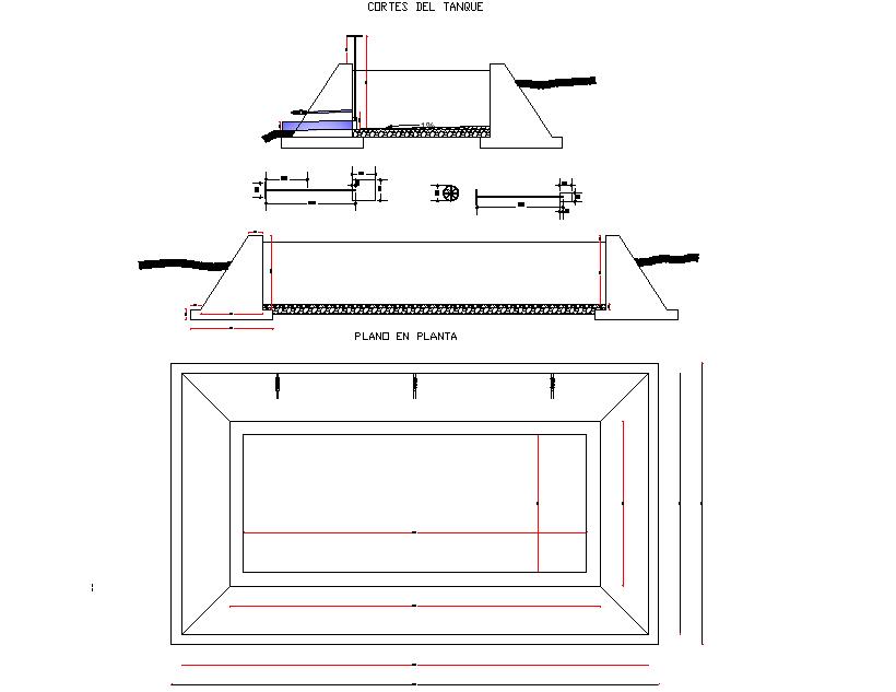 Tank detail dwg file