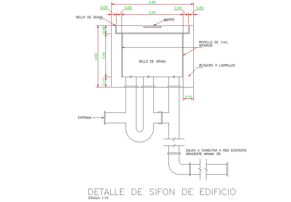 Tank layout detail dwg file