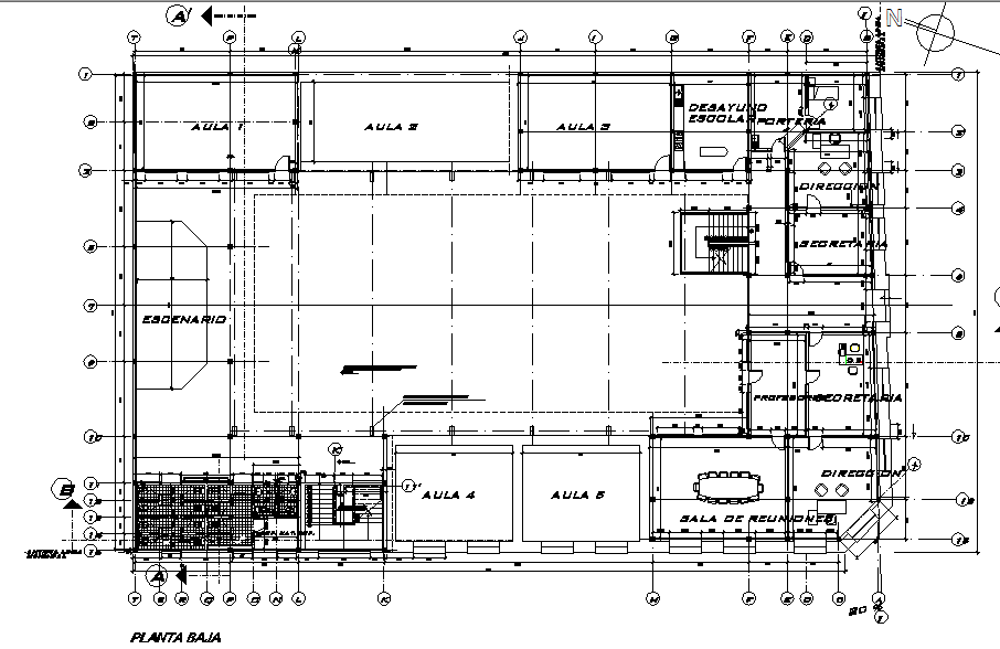 Terrace floor Layout commercial plan detail dwg file