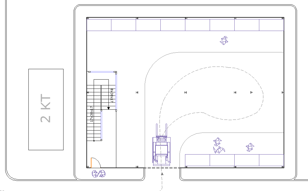 Terrace plan detail dwg file