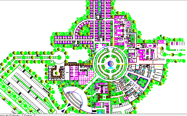 Territory Hospital Complexity Landscaping dwg file