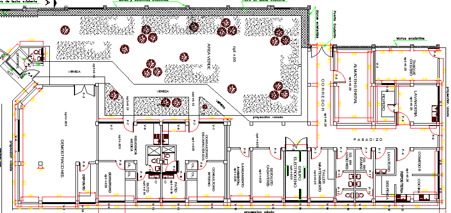 The Architecture Design of Health Center Elevation dwg file