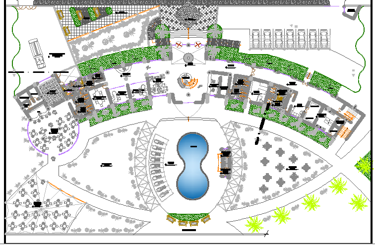 Resort Project detail dwg file