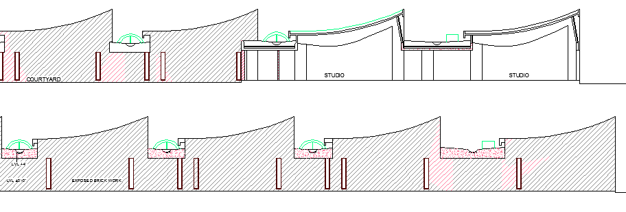 The Architecture Layout Plan of College Elevation dwg file