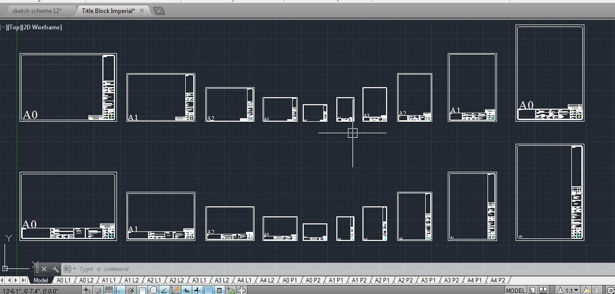 Titleblock layout - inches