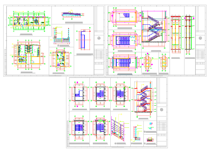 Toilet & Stair Detail in cad file