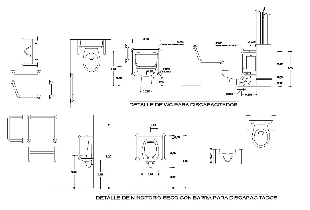 Toilet detail in cad files