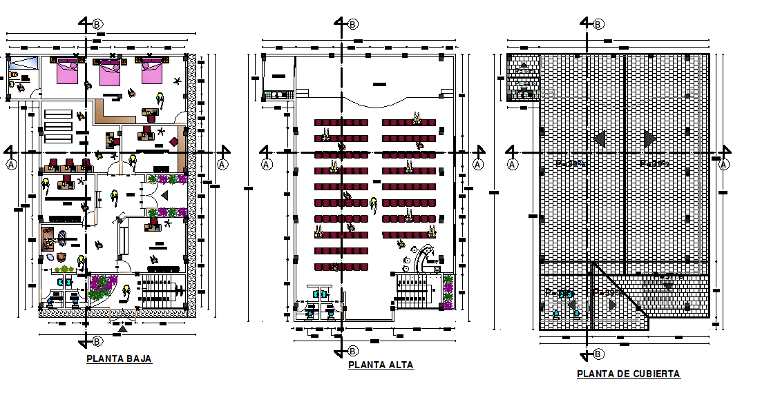 Top to bottom floor center line plan detail dwg file