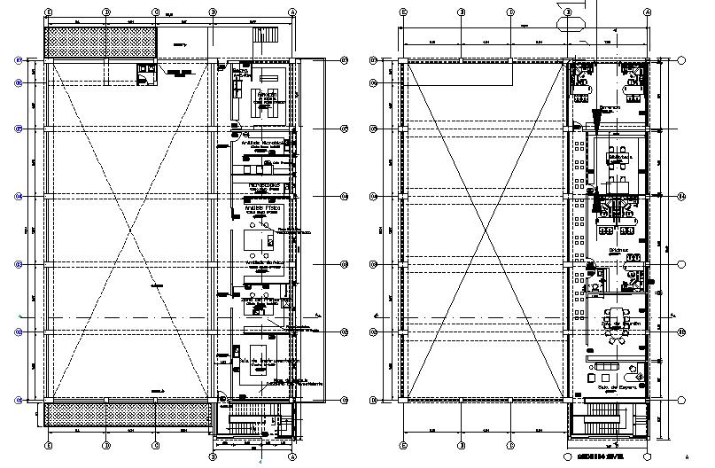 Top view architectural plan