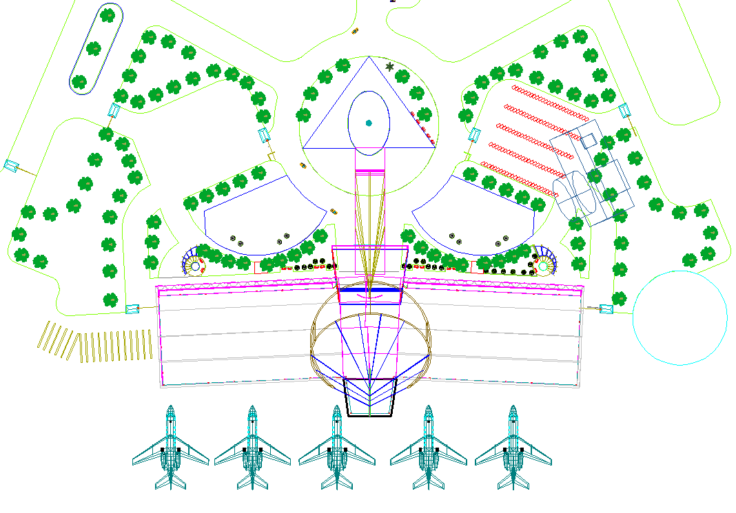 Top view of Airport layout plan