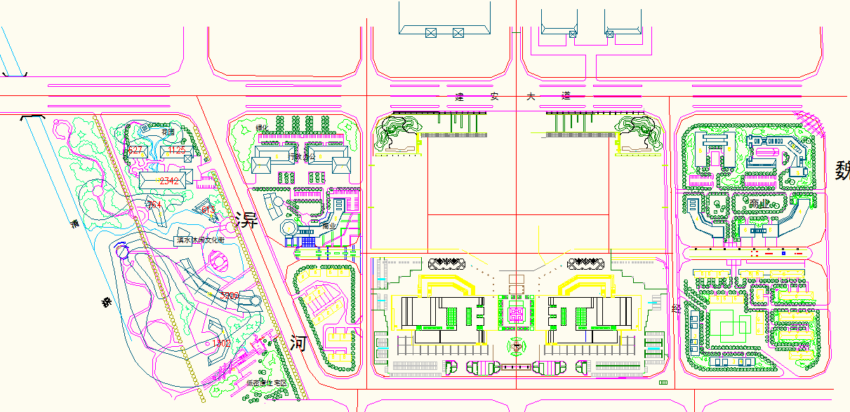 Town Planing in DWG file
