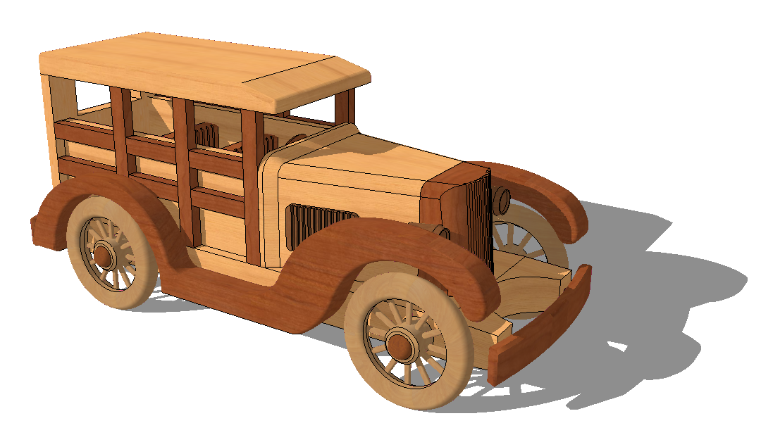 Toy jeep detail elevation 3d model SketchUp file