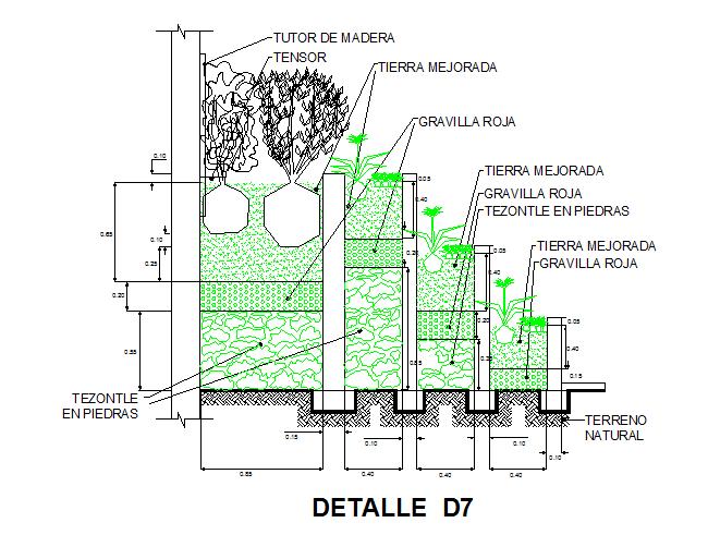 Tree Plantation Detail Dwg File Cadbull