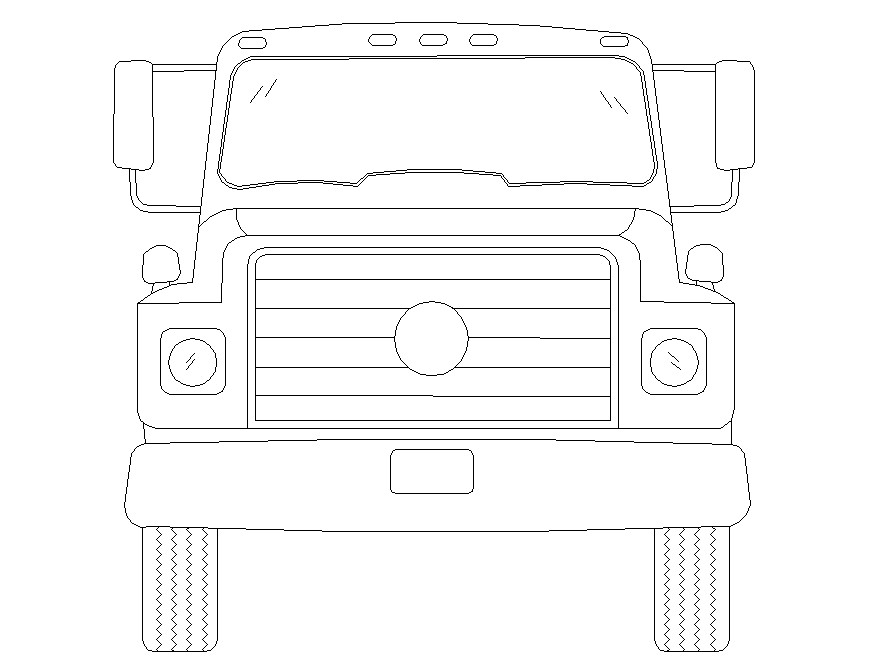 Truck 2d DWG Drawing Download