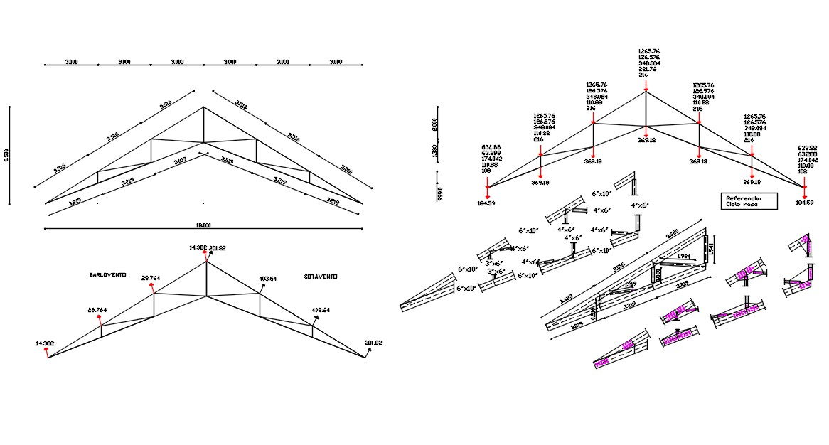 Truss Drawing DWG File