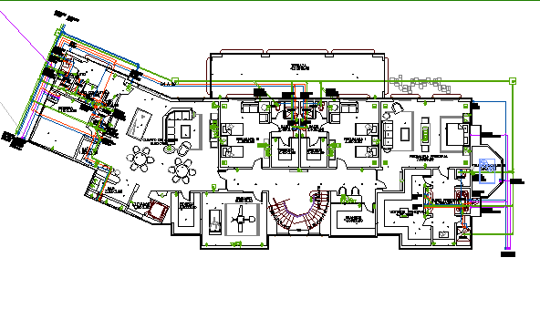 Two flooring bungalow architecture layout plan details dwg file