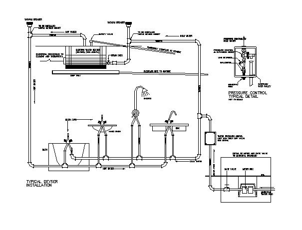 Typical Detailed Geyser Installation design drawing