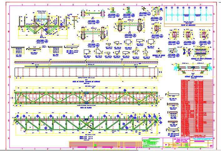 Typical bridge conveyor belt