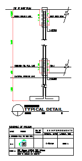 Typical detail design drawing of REINFORCEMENT BARS