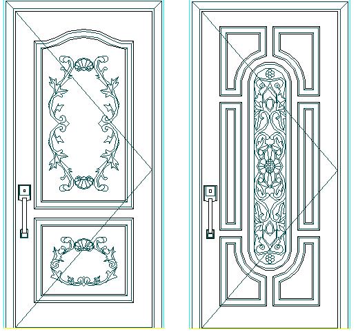 Typical door designing blocks details of house dwg file