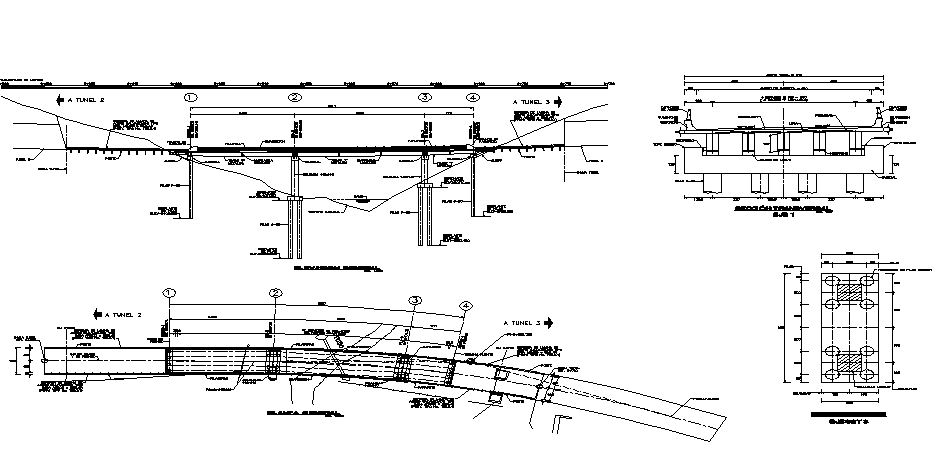 Underground pile detail dwg file