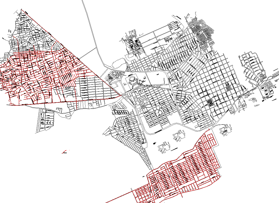 Urban Town Planing dwg file