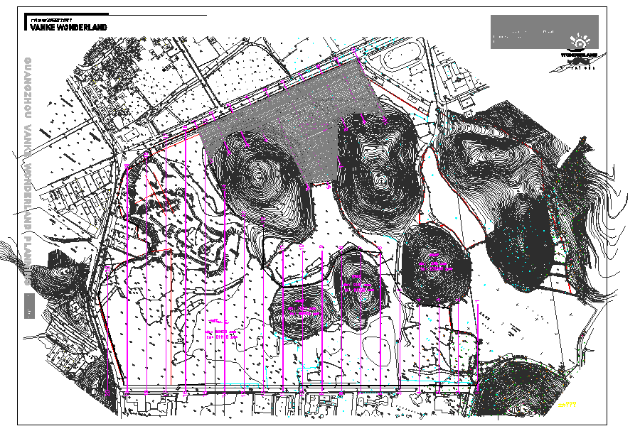 Urban Town planing sector site plan layout detail view dwg file