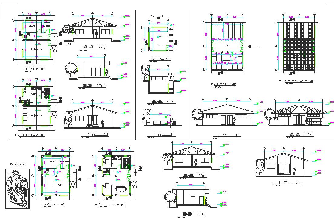 Urban park plan detail dwg file