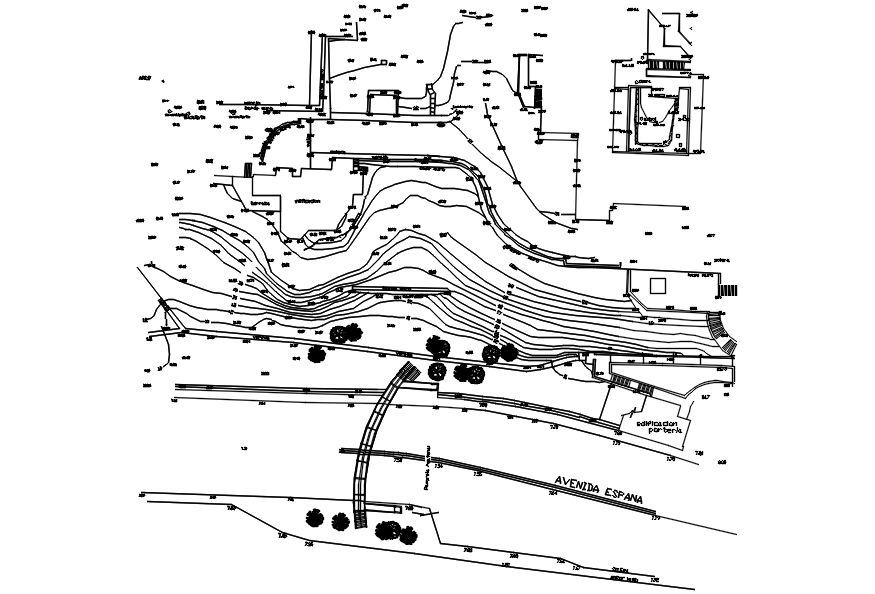 Urban planning layout in dwg file