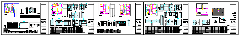 Various types designs of doors for family houses design drawing