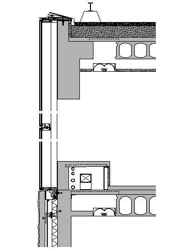 Joint Wall Section Plan dwg file