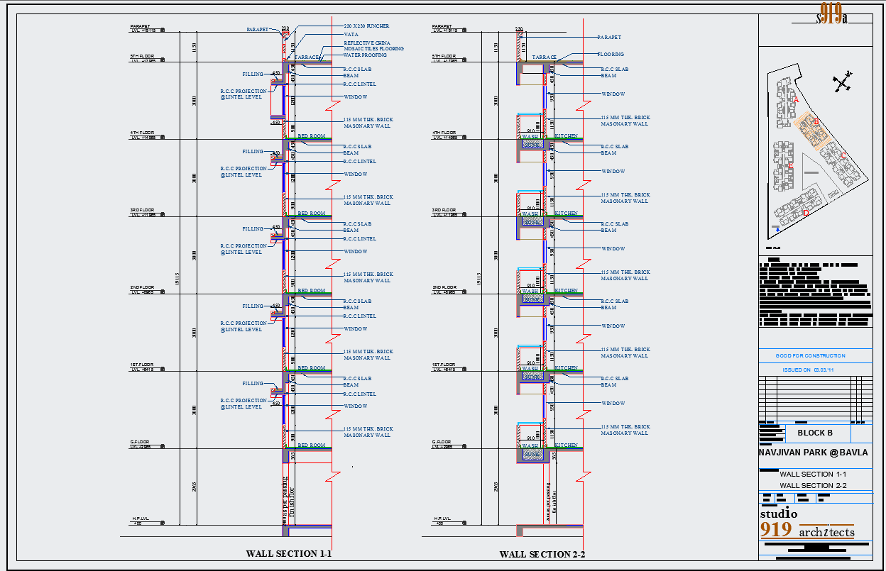 Wall Section dwg, Wall Section Plan dwg file