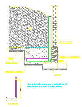 Wall contention of salt detail drawing