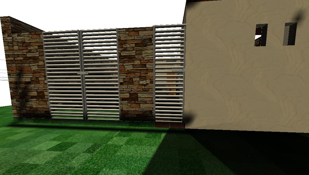 Wall gate 3 D plan detail