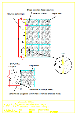 Wall resistant fire design drawing