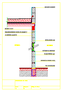 Wall section detail drawing design.