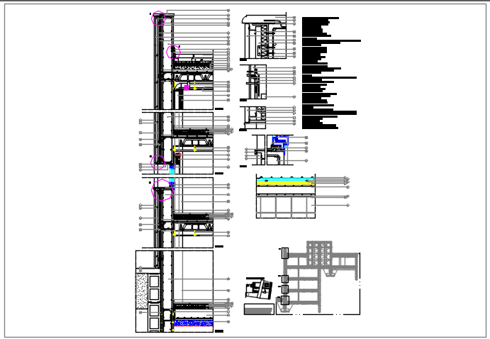 Wall section details dwg files
