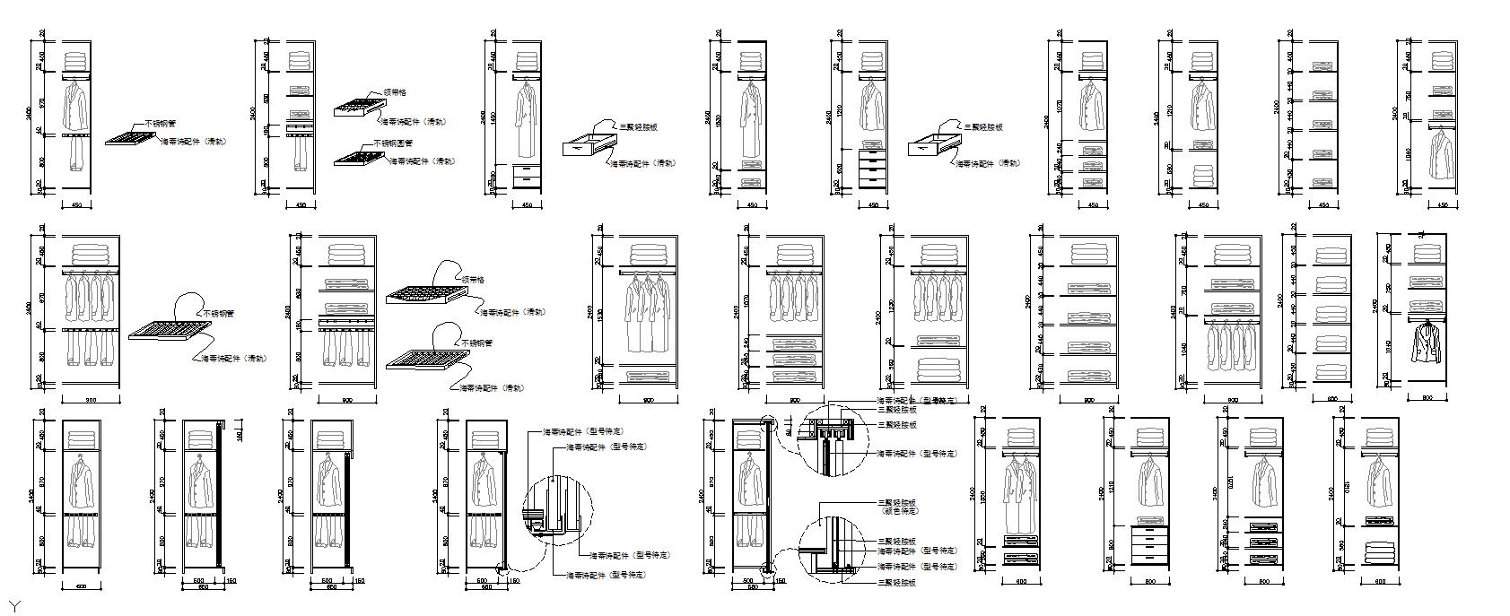 Wardrobe Elevation design