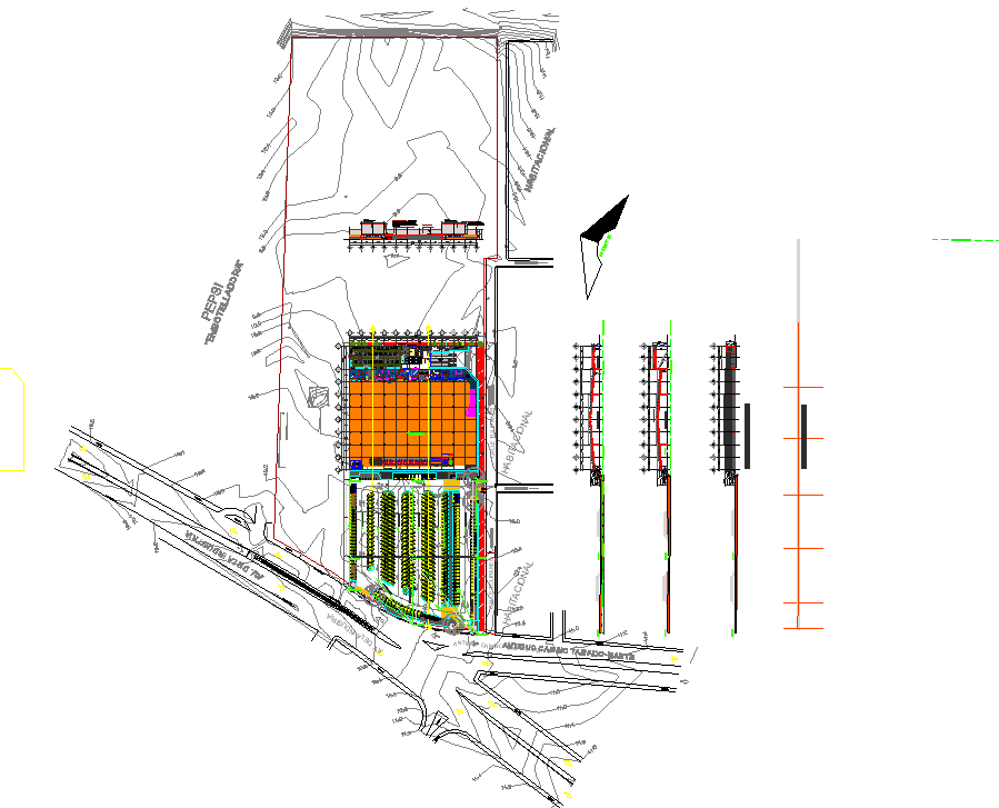 Ware house super plan layout file
