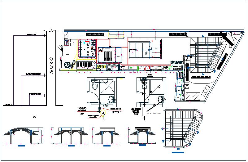 Warehouse plan detail view dwg file