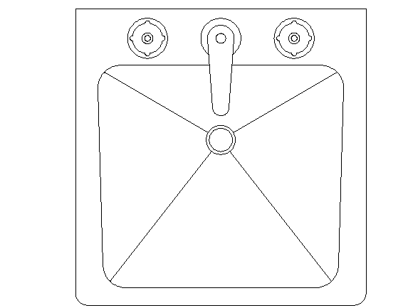 Wash basin top view details dwg file