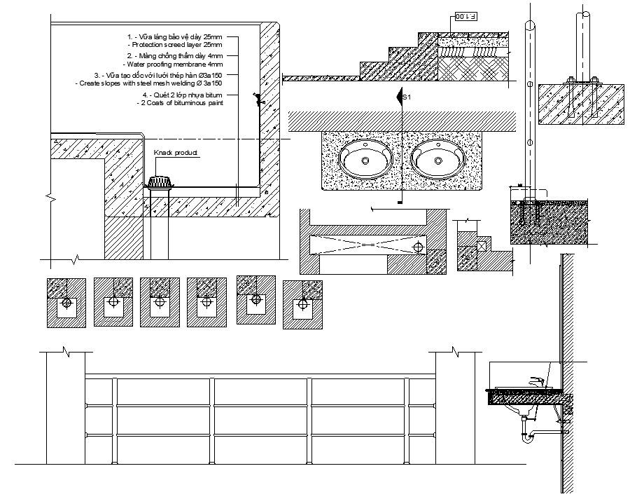 Washbasin elevation CAD block Drawing