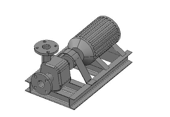 Wastewater pump 3d details