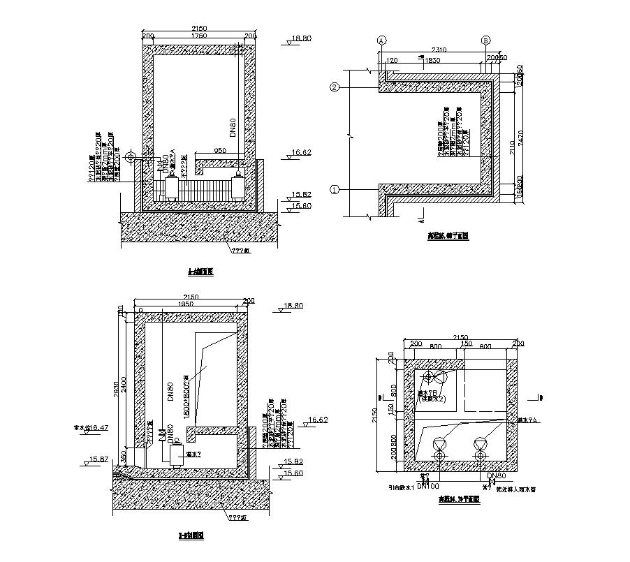 Water pump Machine CAD block 2d view layout dwg file